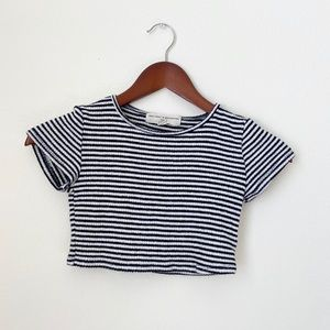 UO•Striped Crop Top